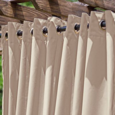 Tempotest Basilica Beige Extrawide Outdoor Curtain