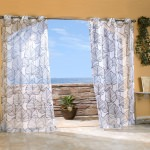 Black Biscayne Sheer Outdoor Curtain with Grommets