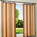 Tan and Espresso Bamboo Outdoor Curtain (40 x 63)