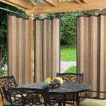 Tan and Espresso Bamboo Outdoor Curtain (40 x 84)