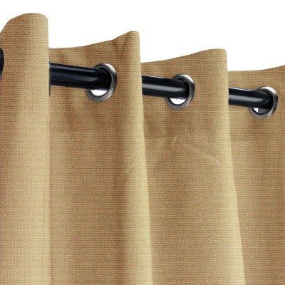 Sunbrella Canvas Camel Outdoor Curtain