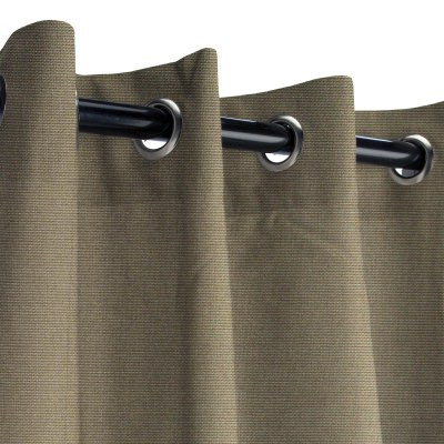 Sunbrella Canvas Taupe Outdoor Curtain