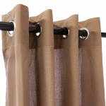 WeatherSmart Outdoor Curtain With Grommets - Deep Tan