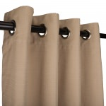 WeatherSmart Outdoor Curtain with Nickel Grommets - Textured Opal