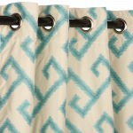 Calypso Outdoor Curtain with Nickel Grommets