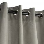 Dove Outdoor Curtain with Nickel Grommets