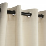 Dupione Pearl Outdoor Curtain with Nickel Grommets