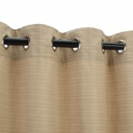 Dupione Sand Outdoor Curtain with Nickel Grommets
