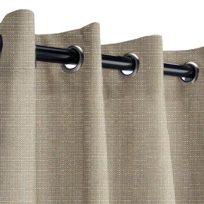 Sunbrella Linen Taupe Outdoor Curtain