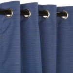 Sunbrella Outdoor Curtain With Nickel Grommets - Dupione Galaxy