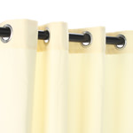 Natural Polyester Outdoor Curtain with Grommets