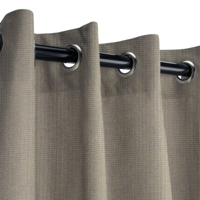 Sunbrella Spectrum Graphite Outdoor Curtain