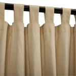 Sunbrella Outdoor Sheer With Tabs - Illusion Honey