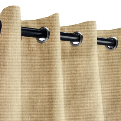 Sunbrella Canvas Heather Beige Outdoor Curtain