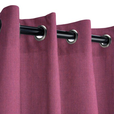 Sunbrella Canvas Iris Outdoor Curtain with Nickel Grommets 50 in. x 96 in.