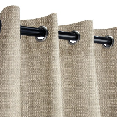 Sunbrella Cast Ash Outdoor Curtain