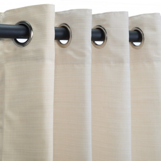 Sunbrella Dupione Pearl Outdoor Curtain
