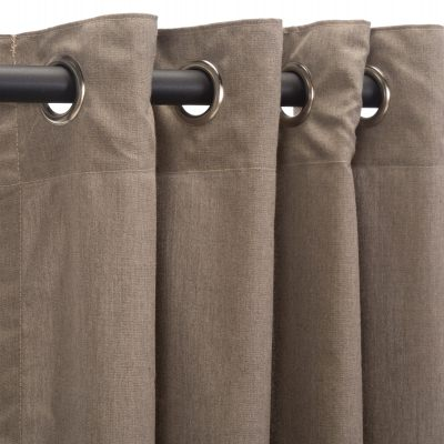 Sunbrella Cast Shale Outdoor Curtain