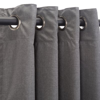 Sunbrella Cast Slate Outdoor Curtain