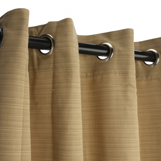 Sunbrella Dupione Bamboo Outdoor Curtain