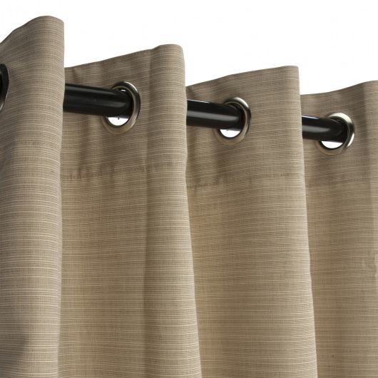 Sunbrella Dupione Sand Outdoor Curtain