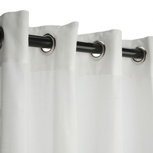 Sunbrella Sheer Snow Outdoor Curtain