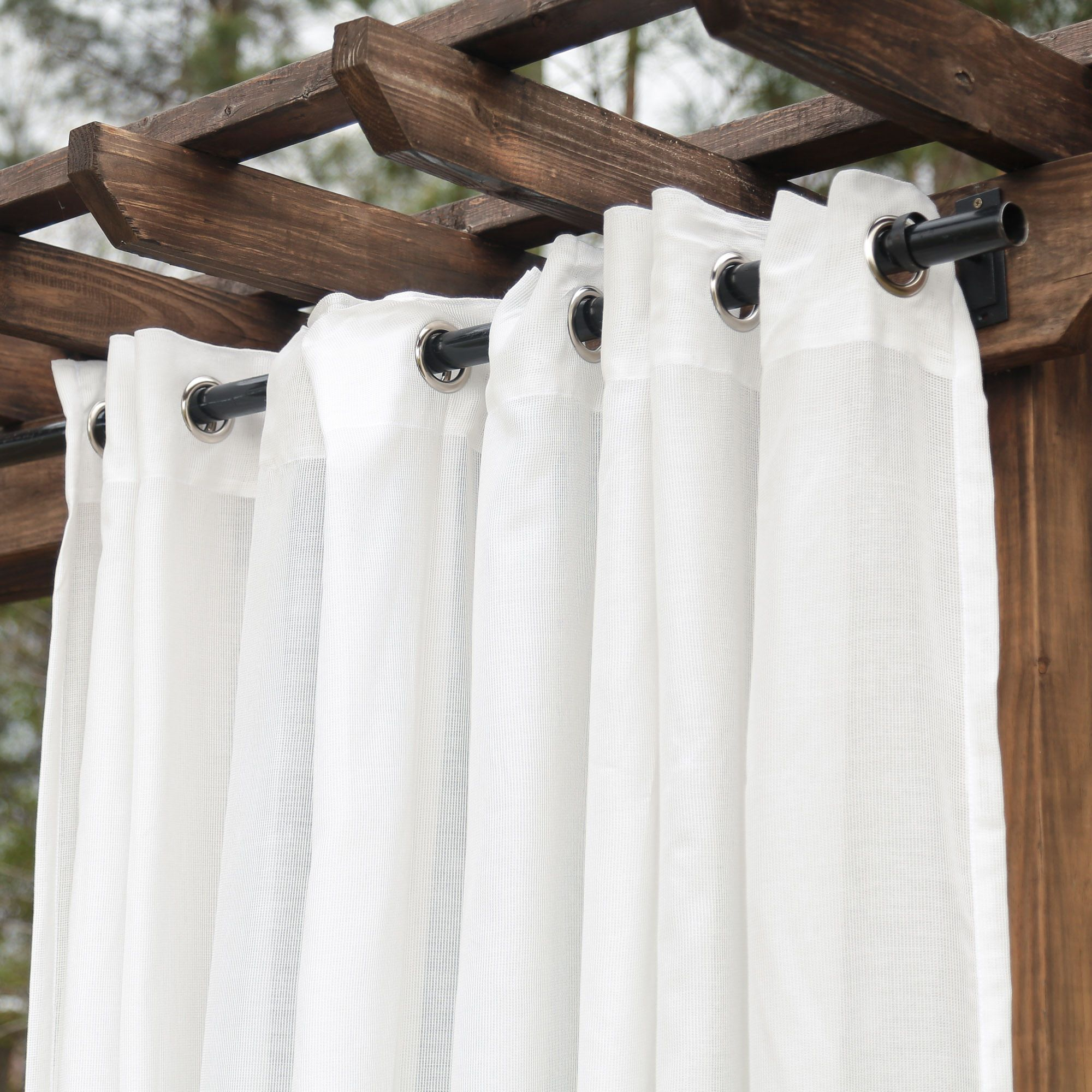 Tempotest Sheer White Extrawide Outdoor Curtain Tempotest Outdoor Curtains