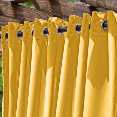 Sunflower Le Marche Extra Wide Outdoor Curtain 120