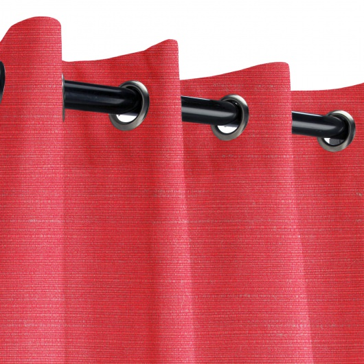 Sunbrella Dupione Crimson Outdoor Curtain
