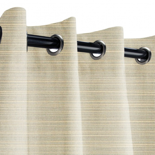 Sunbrella Dupione Dove Outdoor Curtain