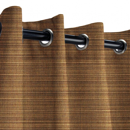 Sunbrella Dupione Oak Outdoor Curtain