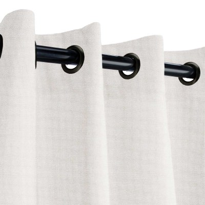 Sunbrella Canvas Canvas Outdoor Curtain with Black Grommets 50 in. x 108 in.