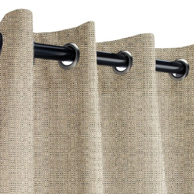 Sunbrella Linen Stone Outdoor Curtain