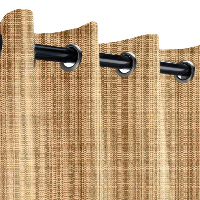 Sunbrella Linen Straw Outdoor Curtain