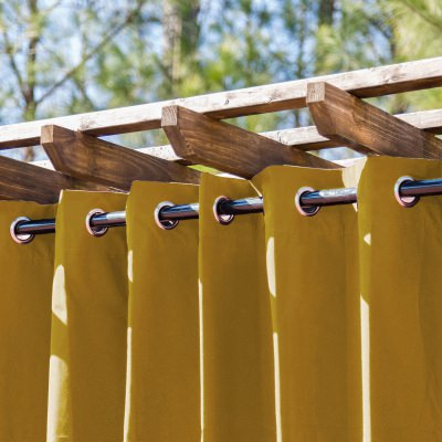 Tempotest Medallion Gold Extrawide Outdoor Curtain