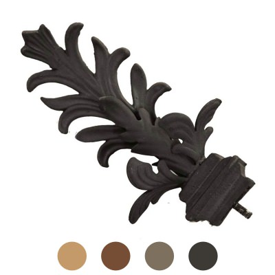 Set of Outdoor Curtain Leaf Design Finials