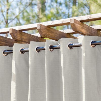 Cannoli Cream Semi-Sheer Extrawide Outdoor Curtain