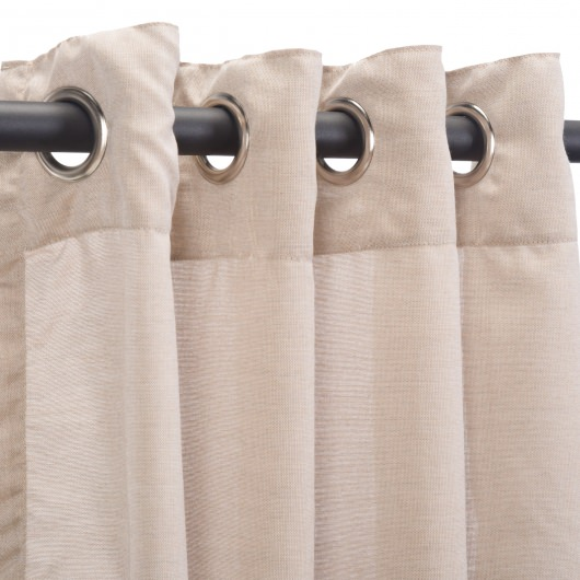 Sunbrella Sheer Wren Outdoor Curtain