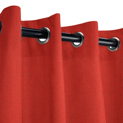 Sunbrella Spectrum Crimson Outdoor Curtain