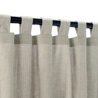 Sunbrella Spectrum Dove Outdoor Curtain with Tabs 50 in. x 96 in.