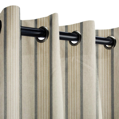 Sunbrella Cove Pebble Outdoor Curtain