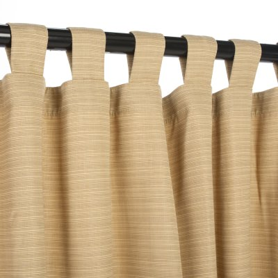 Sunbrella Dupione Bamboo Outdoor Curtain with Tabs 50 in. x 96 in.